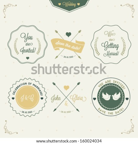 Wedding invitation design - stock vector