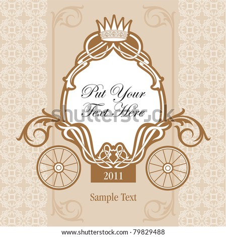 wedding invitation design with carriage