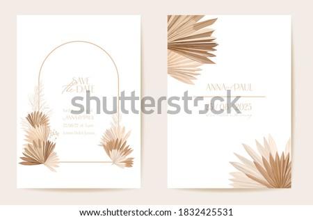 wedding invitation dried