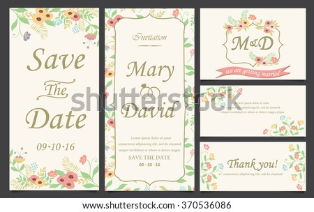 wedding invitation love and valentine's day template. can be use for party invitation, banner, web page design element or holiday greeting card. vector illustration #370536086