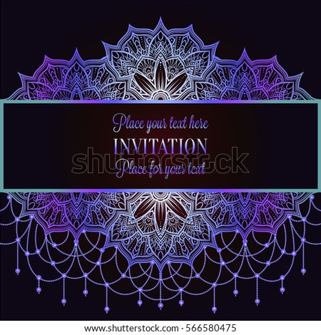 Islamic Border With Purple Background Vector Download Free Vector