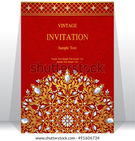 Indian Wedding Card Background Download Free Vector Art Stock
