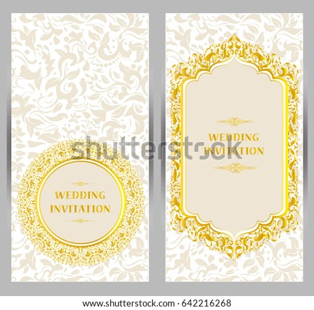 Abstract Beautiful Wedding Invitation Card Design Download Free