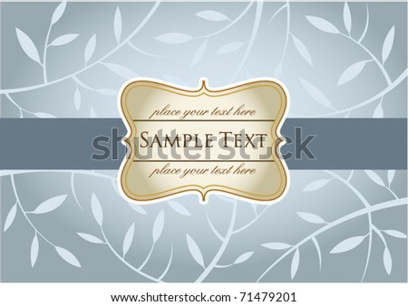Wedding invitation or  greeting card