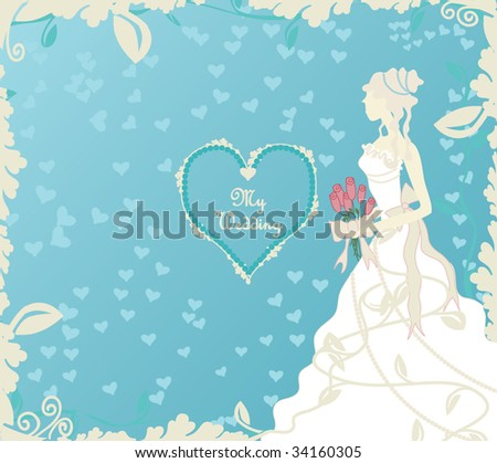 stock vector Wedding Invitation or Scrap Book Cover Vector