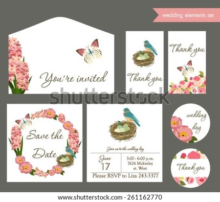 Wedding invitation set #261162770