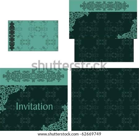 royal wedding invitation template. stock vector : wedding