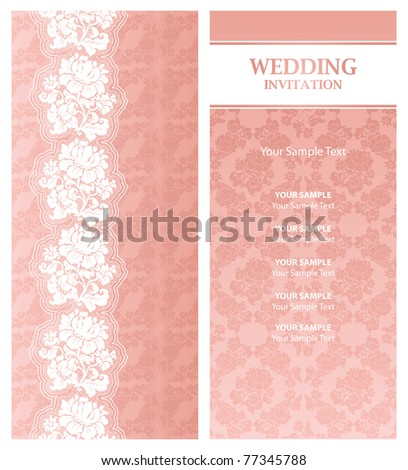 stock vector Wedding invitation template design element