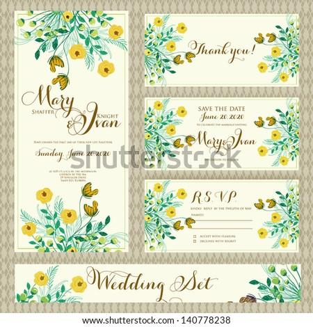 Wedding invitation template in vector.