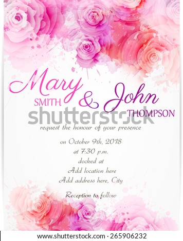 stock-vector-wedding-invitation-template-with-abstract-roses-on-watercolor-background