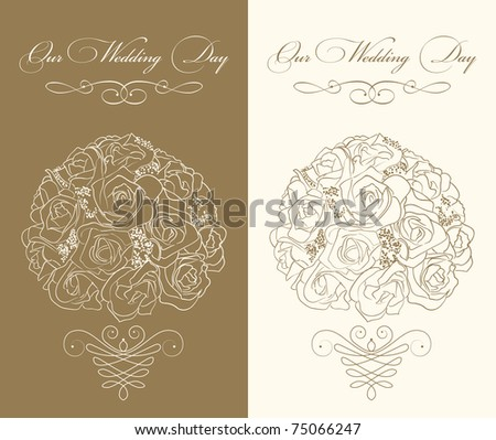 stock vector wedding