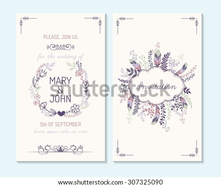 Wedding invitation, thank you card, save the date cards. Wedding invitation. #307325090