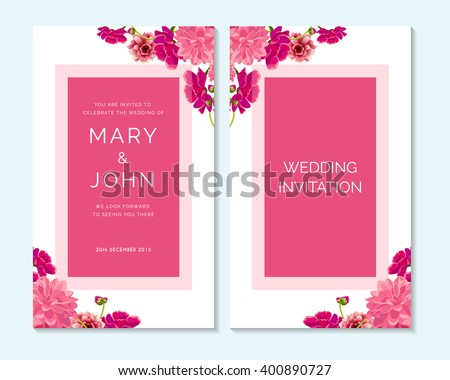 Love Invitation Card Template Download Free Vector Art – Invitations Card for Wedding
