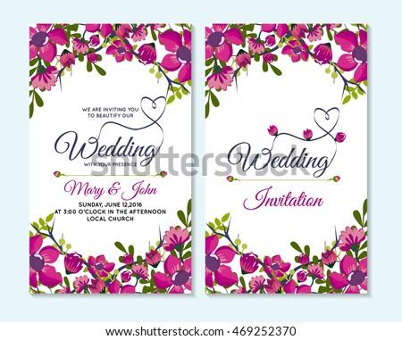 Vector elegant roses wedding invitation download free vector art wedding invitation thank you card save the date cards wedding invitation template design stopboris Choice Image