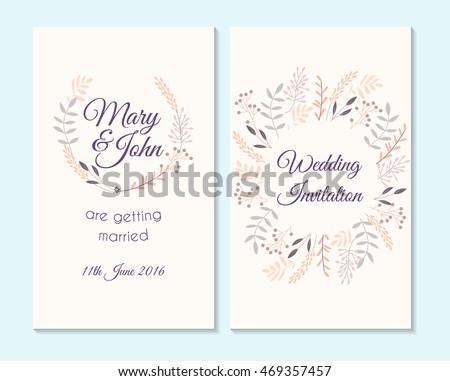 Beautiful wedding invitation card with rose flower template wedding invitation thank you card save the date cards wedding invitation template design stopboris Images