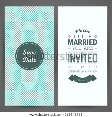 Wedding invitation. Vector illustration
