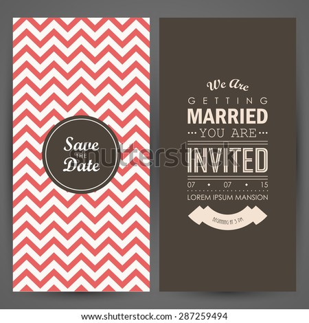 Wedding invitation. Vector illustration