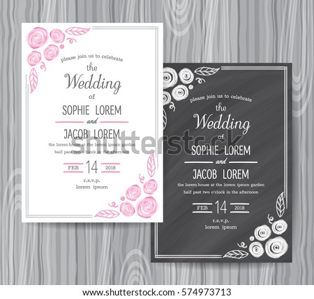 Save the Date Chalkboard Style Card - Download Free Vector Art ...
