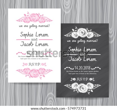 Save The Date Chalkboard Style Card  Download Free Vector Art