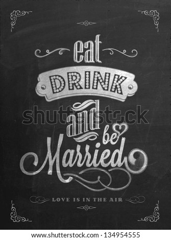 stock-vector-wedding-invitation-vintage-typographic-background-on-blackboard-with-chalk
