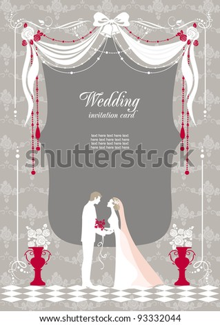 stock vector Wedding invitation with space for text wedding invitation text