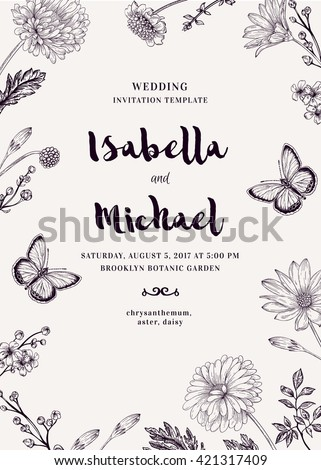 wedding invitation with two