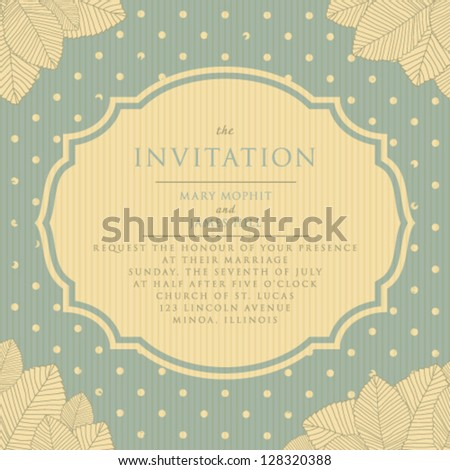 Wedding invitations and announcements. Vintage invitation