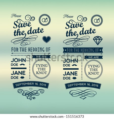 Wedding invitations badges