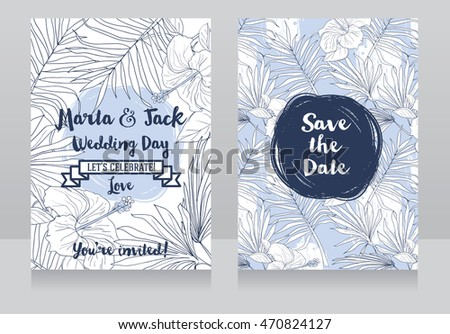 wedding invitations in tropical