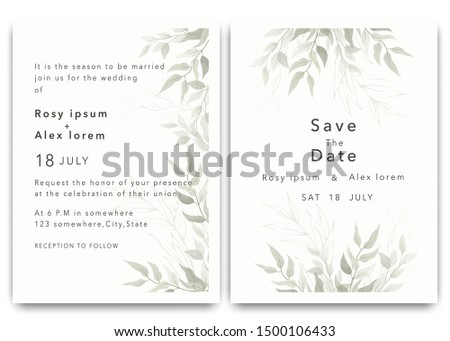 Wedding Invitations save the date card design with elegant garden anemone.