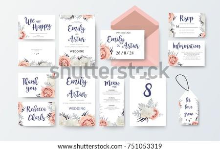wedding invite  invitation menu