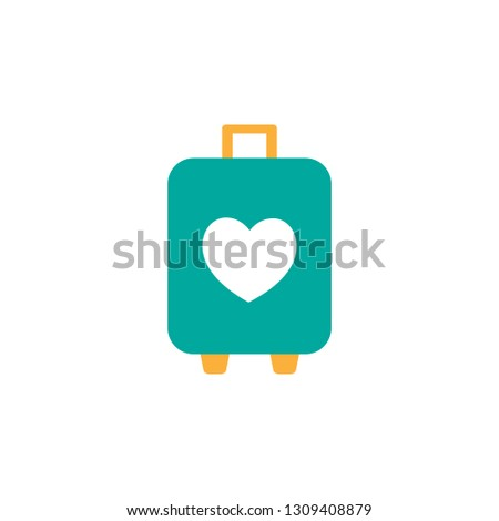 Wedding luggage icon. Element of Valentine day icon for mobile concept and web apps. Detailed Wedding luggage icon can be used for web and mobile