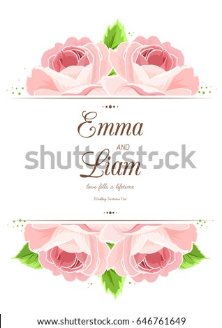 wedding marriage card template