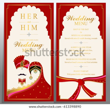 Beautiful Wedding Invitation Card Template Download Free Vector