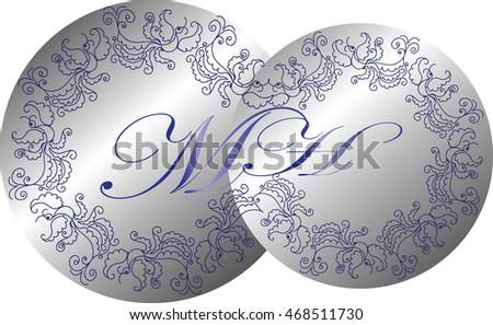 wedding monogram vintage