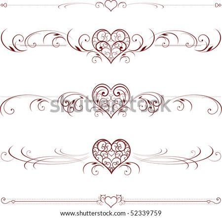 Stock Vector Wedding Motifs