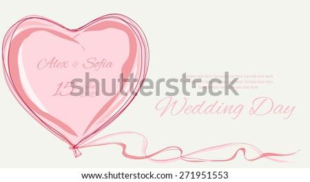 wedding pink sweet heart