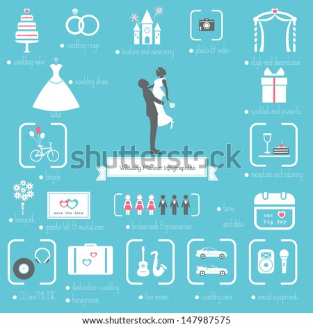 wedding planner icons and