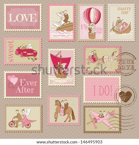 wedding postage stamps   for