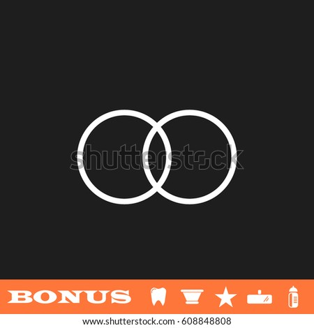 Vector Images Illustrations And Cliparts Wedding Rings Icon Flat