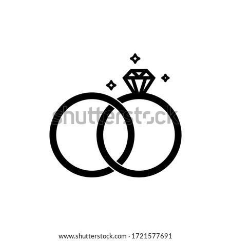 wedding rings vector graphic design illustration  Photo stock ©