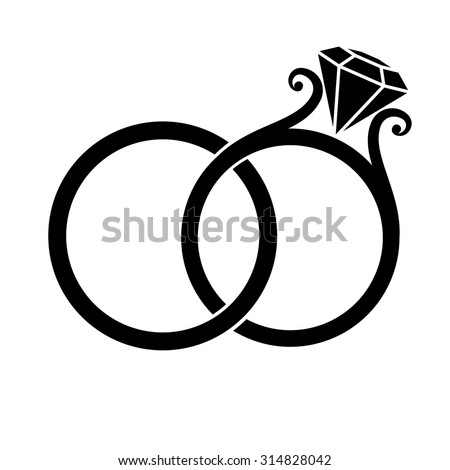 Wedding rings vector  8Wedding Rings Vectors | Download Free Vector Art & Graphics ...
