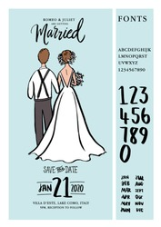 wedding/save the date invitation card template vector/illustration