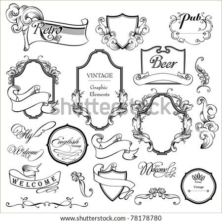 wedding scrap - stock vector