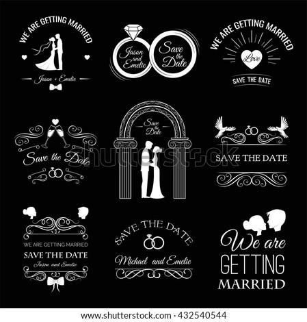 wedding set  couple  bride and...