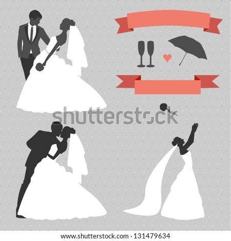 Wedding set of design elements