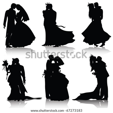 Wedding silhouettes download free vector art stock graphics wedding silhouettesalso available jpeg version of this image junglespirit Choice Image