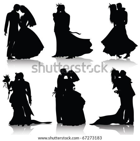 wedding silhouettes also