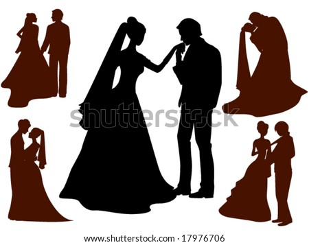 Wedding silhouettes download free vector art stock graphics wedding silhouettes vector junglespirit Choice Image