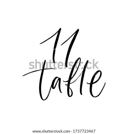 wedding 11 table number vector